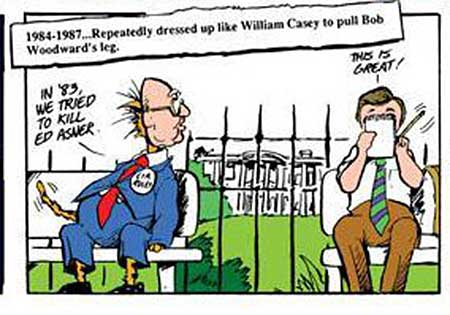 Bill the Cat Punks Bob Woodward