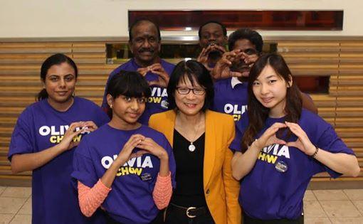 Olivia Chow  Mayoral Gang Sign