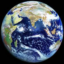earth from space Indian Ocean